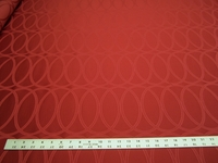 4 yards of Luna Red Geometric Upholstery Fabric