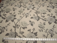 4 yards of neutral floral tapestry upholstery fabric