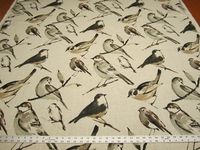 Birdwatcher print fabric by Richloom color charcoal per yard
