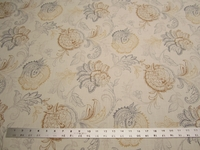 Calypso jacobean print fabric color pebblestone by Belle Maison per yard