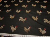 Claridge Rooster Reflection Color Black Diamond Upholstery Fabric