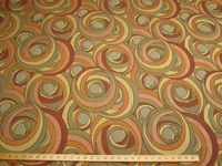 ft105, Zakim Spiral Swirl Jacquard Contemporary upholstery fabric color melon