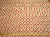 "ft111, ""Bridgit"" Shells Matelasse upholstery fabric color coral"