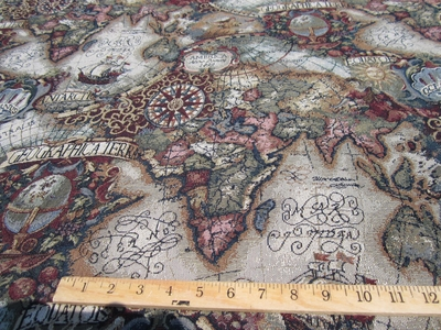 Rose Gold Map Tapestry