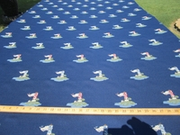 ft987, Lighthouse jacquard color navy upholstery and drapery fabric