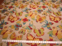 """Get Your Net"" Butterfly tapestry upholstery fabric color jellybean"