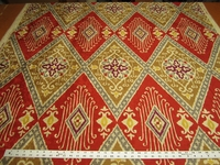 Iman Home Ikat Diamond Antique Velvet Color Spice