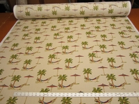 John Wolfe Wayside Kahula palm tree outdoor upholstery fabric per yard