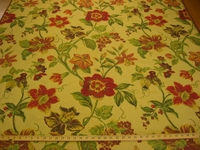 r8317, 1.6 yd Floral Tapestry Upholstery