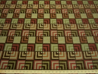 r8737, 3.1 yd Geometric Squares Chenille Mix Upholstery