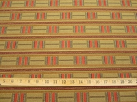 r9157, 3 5/8 yds Patterned Stripe Upholstery