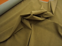 r9294, 2 1/4 yards of beaver green Angus dimpled faux suede upholstery fabric