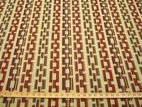 r9352, 2 5/8 yds Basketweave Stripe Upholstery