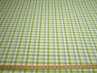 r9636, 1 1/4 yards of mult check drapery or upholstery fabric