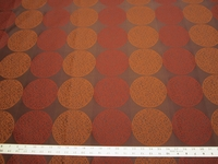 r9675, 2 3/8 yards of geometric circles upholstery fabric
