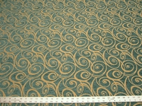 r9742, 2 yards of upholstery paisley swirl chenille mix fabric