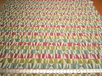 r9768, 2 1/4 yards of colorful geometric upholstery fabric