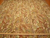 r9806b, 2 1/8 yards of Paisley Leaf Textured Upholstery Fabric