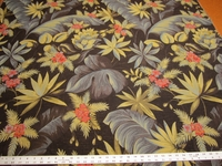 r9822, 2 1/2 yards of tropical leaf tapestry upholstery fabric