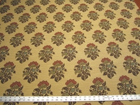 r9825, 2 7/8 yards of floral upholstery fabric