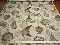 r9847, 2 1/2 yards of Richloom Sealife outdoor upholstery fabric r9847