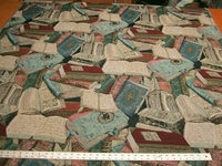 """Literary Guild""� books tapestry upholstery fabric"