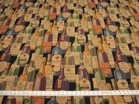 Regal Wine Bottle Tapestry upholstery fabric per yard