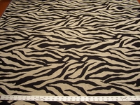 Richloom Zala animal stripe chenille upholstery fabric color Onyx