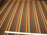 Southwest patterned zig zag stripe upholstery fabric per yard
