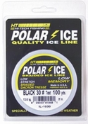 HT Enterprises Black Polar Ice Braided Ice Fishing Line 100yd