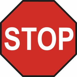STOP signs starting at $27.32