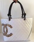 $2600! CHANEL WHITE CAMBON LEATHER SNAKESKIN CC BAG