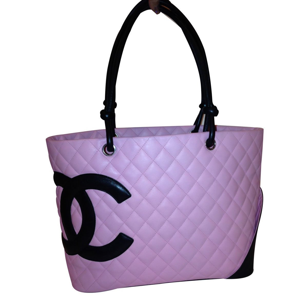 b9eb6d12b222 Over  1000 - Authentic Chanel Pink Cambon Large Leather Tote Bag