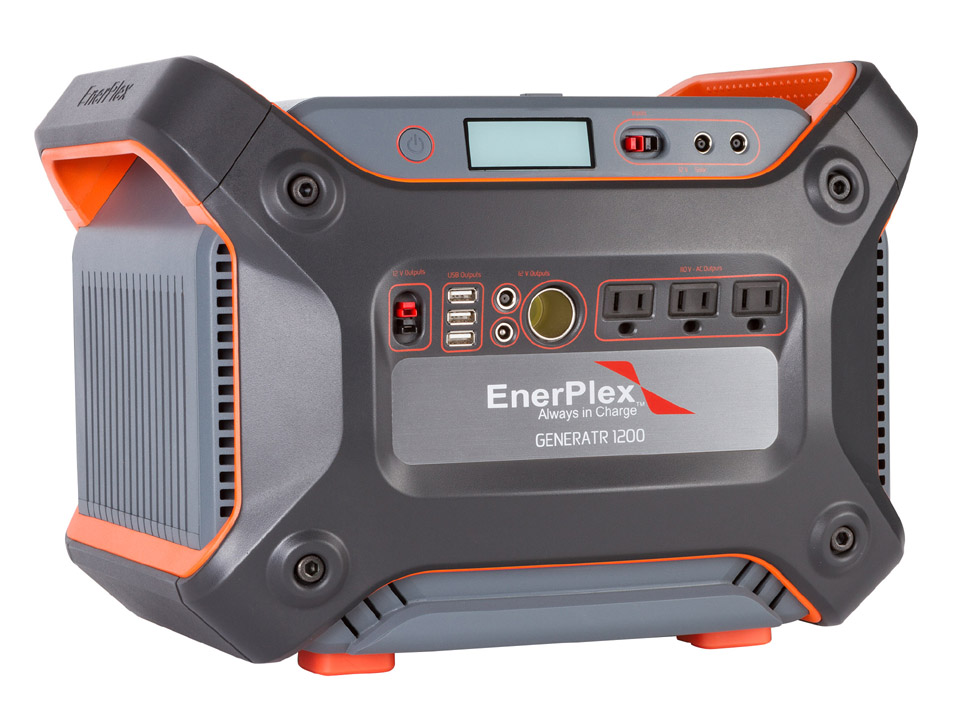 1,231 Watt Hour Portable Battery Back-up Generator with Lightweight Lithium Battery by Enerplex