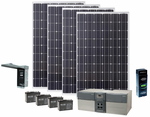 Earthtech Products Max 1800 Watt Solar Generator with 1040 Watts of Solar Power for Home and Off-Grid Back Up Power