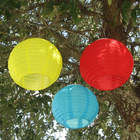 3 Pack Chinese Solar Lantern with Energy saving LED