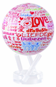 "4.5"" World Love MOVA Globe in White with automatic rotation feature"