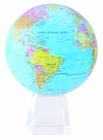 "8.5"" Blue Ocean MOVA Globe with Large Crystal Base"