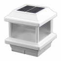 Aluminum Solar Post Cap Light with Lens for 4 inch Posts IP 68-Fully Waterproofed