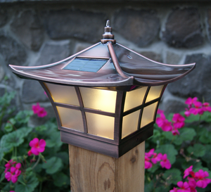 Ambience Solar Copper Post Cap Light