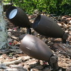 Apollo Triple Solar Spotlight Set with Antique Brown Finish