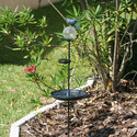 Aquarius Birdbath Stake with Glass Orb Solar Light