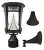 Aurora Solar Lamp Post Fixture With 3 Mounting Options
