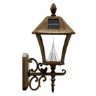 Baytown Solar Lamp For Wall Mounting - Weathered Bronze