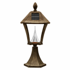 Baytown Solar Lamp with Base Mount  - Weathered Bronze