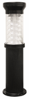 Black Bollard Solar Lamp for Parking Lots, Paths, Walkways, Driveways and Fresh Water Marinas