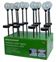 Brinkmann Solar Crackle Glass Path Light 12 Pack