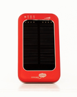 Solar Assist Portable Charger (Red) - 3600mAh Solar Charger for iPhones and other devices