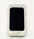 Solar Assist Portable Charger (Silver) - 3600mAh Solar Charger for iPhones and other devices