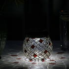 Champagne Glass Mosaic Solar T Light